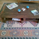 Pallet Woodwork Wheeled Table