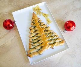 菠菜奶酪圣诞树