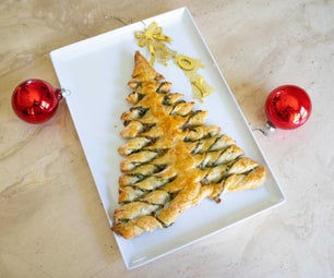 Spinach and Cheese Christmas Tree