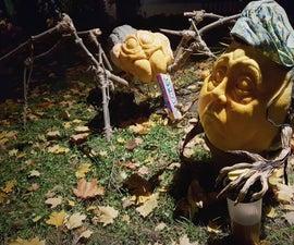 Little Miss Muffet Pumpkin Display