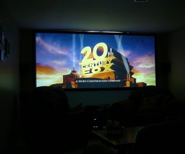 Home Theater Projector Screen on a Budget
