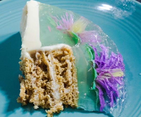 Flower Rainbow Gelatin and Cake Inside Surprise