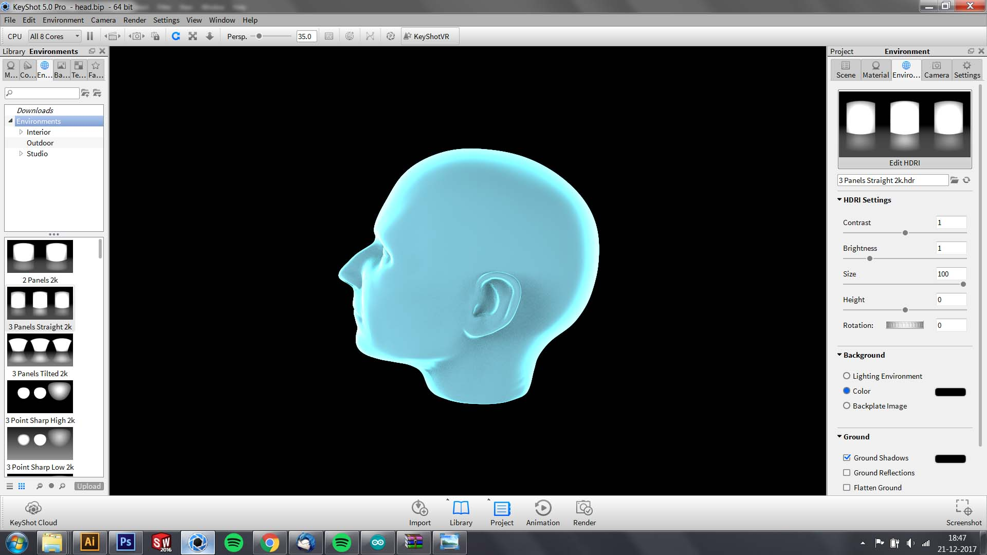 Picture of 3D Model to 6 Images