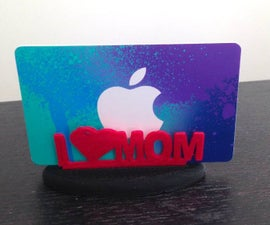 3D Printed - Mother's Day Gift Card Holder