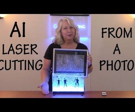How to Laser Cut and Light an Illustration Based on a Photo