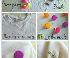 TUTORIAL | DIY Fashion: Neon Buttoned T-shirt