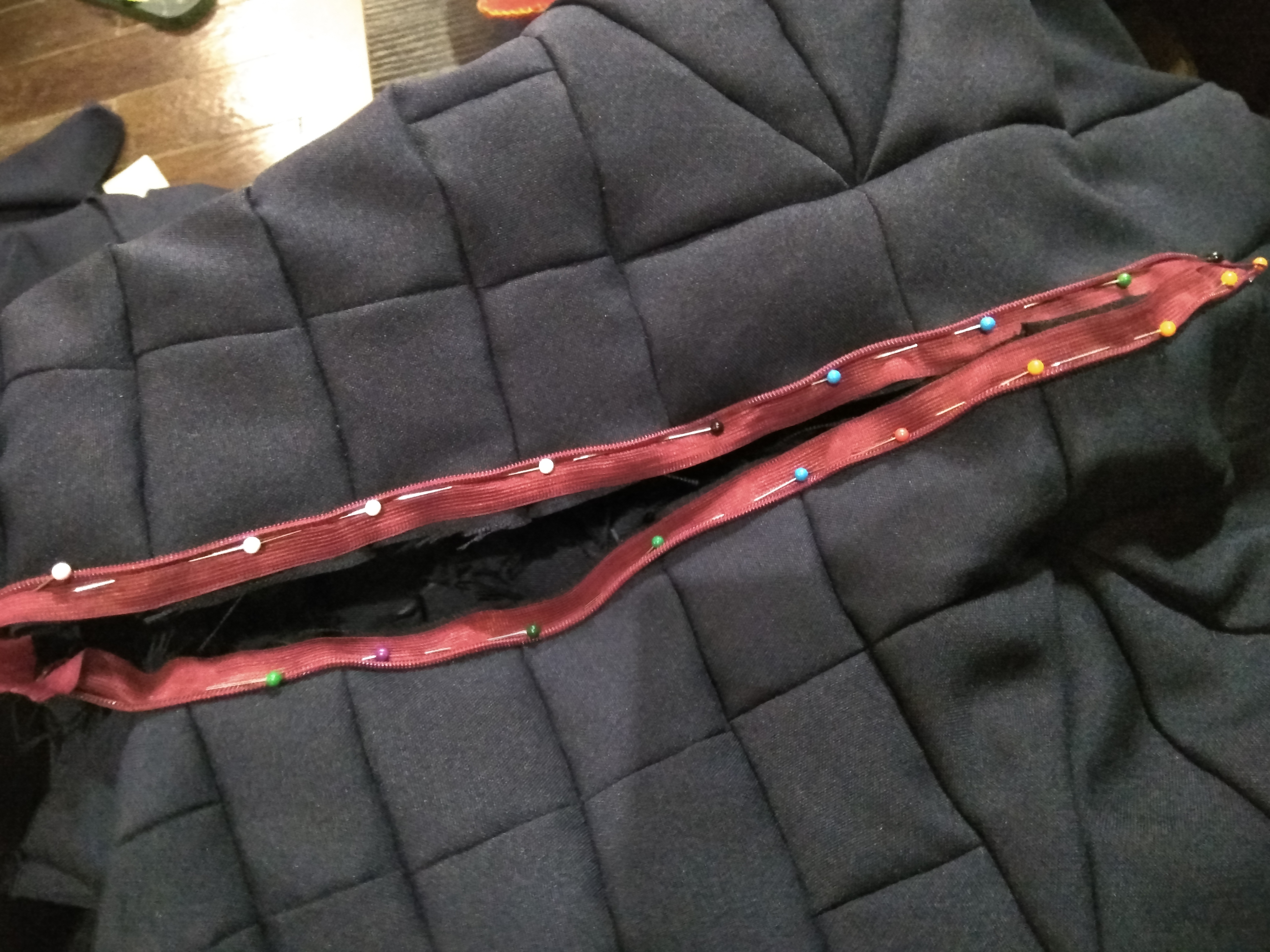 Picture of Sewing on the Zipper