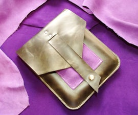 All Leather iPad Sleeve (figgy edition)