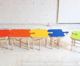 HomeMade Modern DIY Puzzle Stool