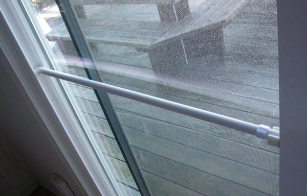 Build a Lock Bar for a Sliding Glass Door