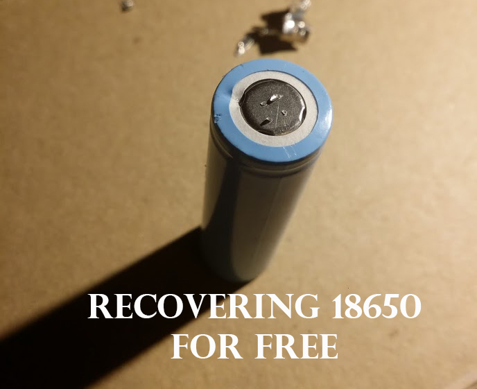 Picture of Recovering 18650 Lithium Batteries With Only a Paperclip