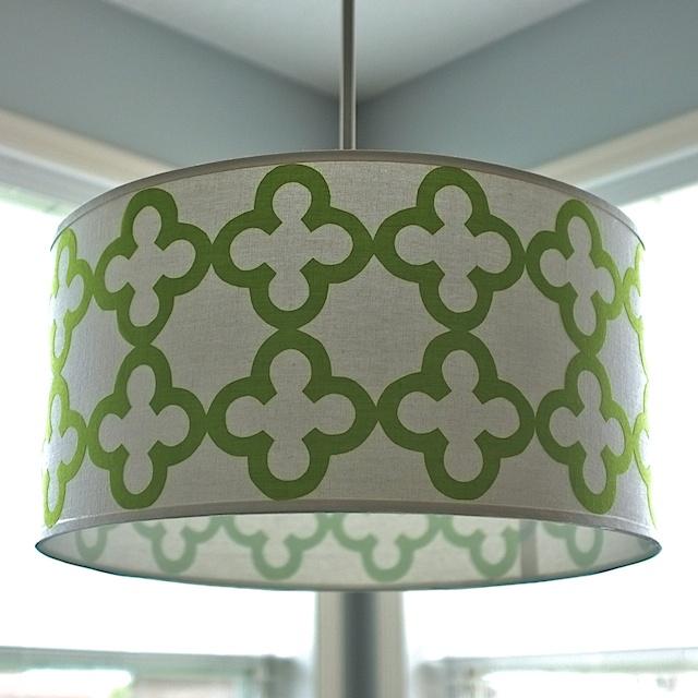 Picture of Quatrefoil Drum Shade Pendant Light