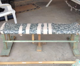 Reclaimed Wood Gym Bench