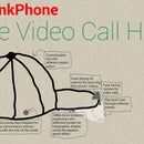 Holographic video call hat