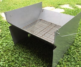 Charcoal Camping BBQ (lightweight, Portable, Foldable)