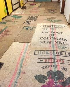Burlap Bag Floor
