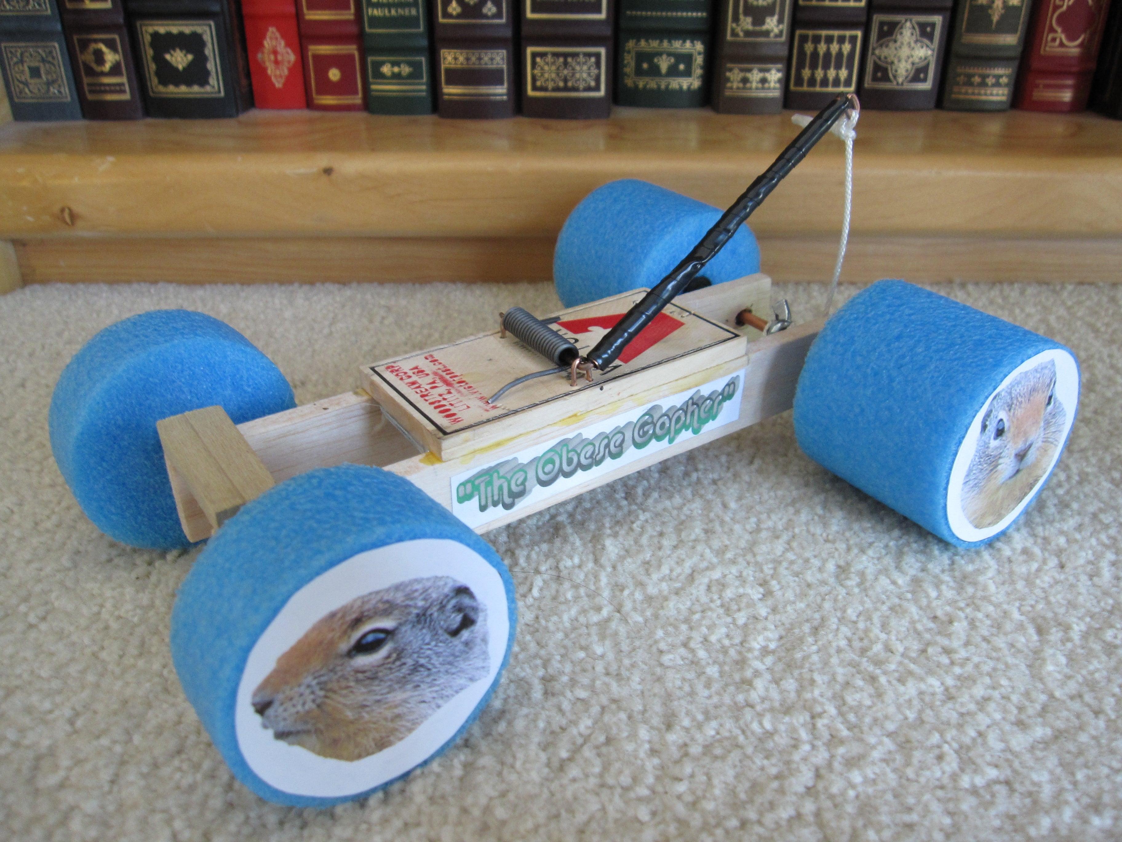 Mousetrap Car Racer 8 Steps Instructables