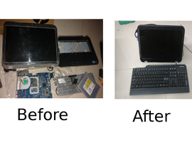 Reusing Old Laptop Parts to Build Cheap Portable System