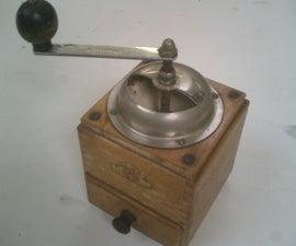 restoring a coffee grinder.