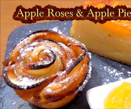 How to make apple roses and a delicious apple pie