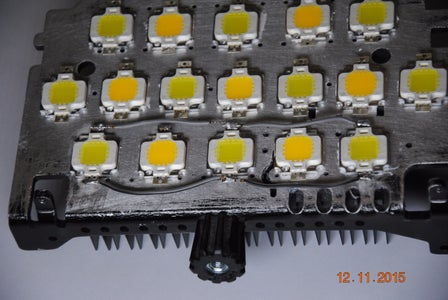Solder the LED's