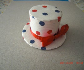 Easy peasy cute pillbox hat - Recycled, too!
