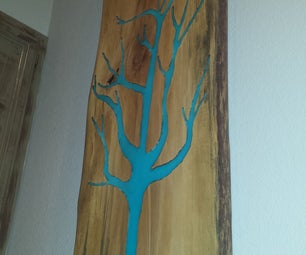 Glow Wood Tree, Wall Decor