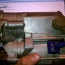 How to disassemble and clean a starter motor for a Toyota 22R engine