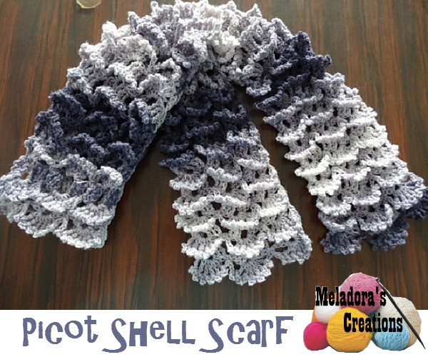 Picture of Picot Shell Stitch Scarf - Free Pattern and Video Tutorials