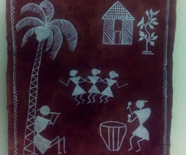 DIY Warli Painting Wallpiece