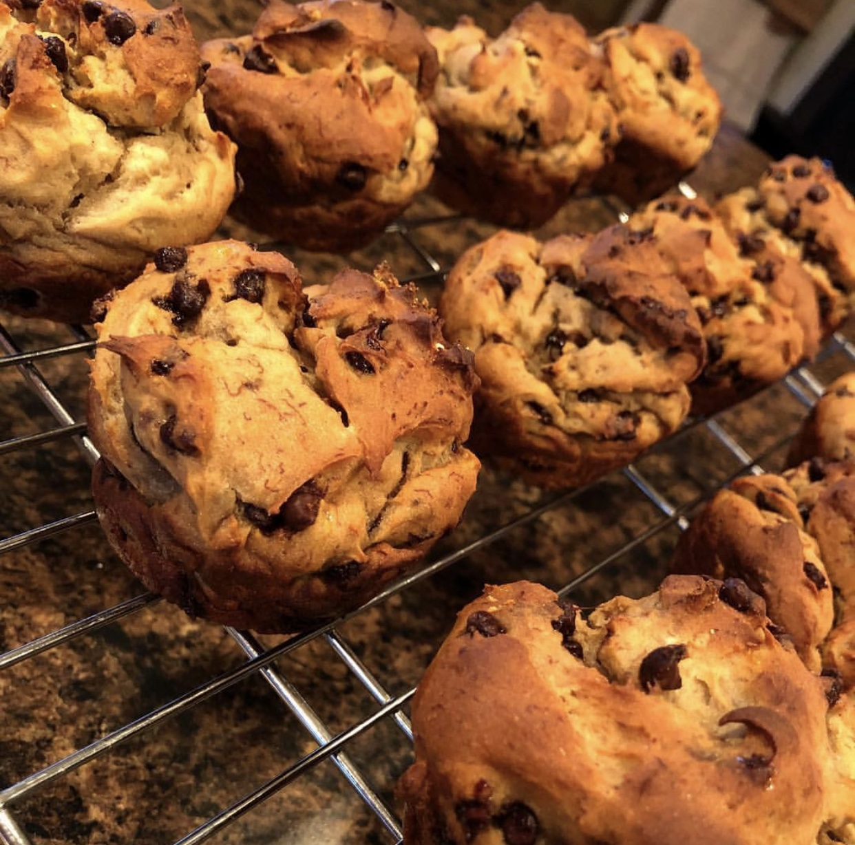 Picture of Gluten Free Chocolate Banana Protein Muffins