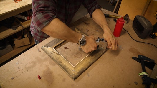 Glue the Miter Cuts With Wood Glue and Use a Staple Gun and Staple Each Cut for Reinforcement