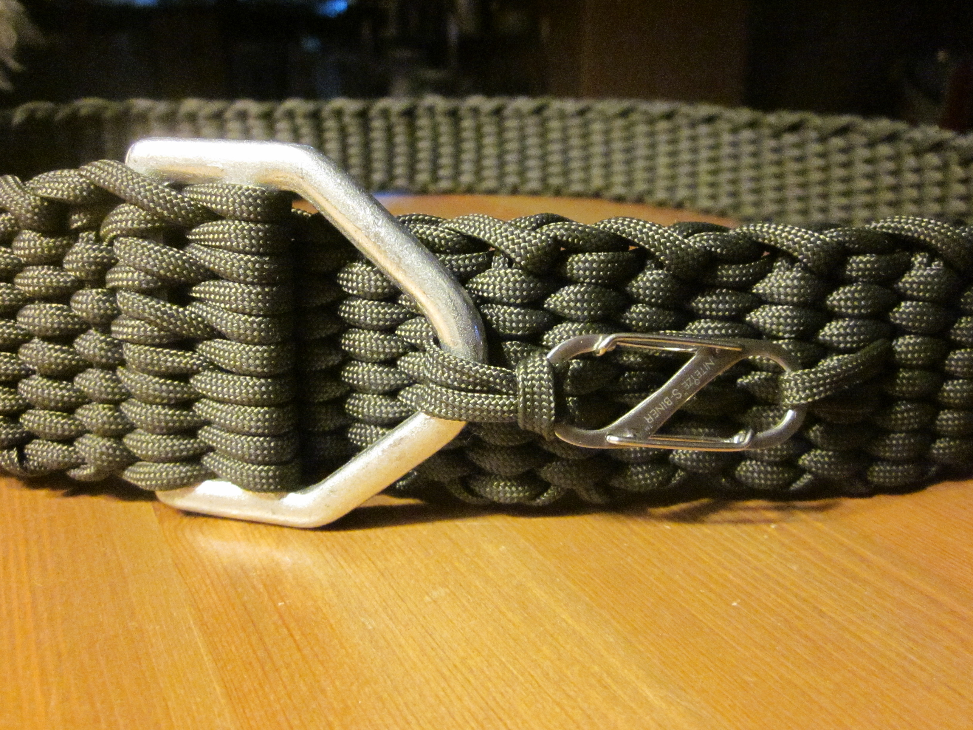 Picture of Paracord Belt With Carabiner Buckle
