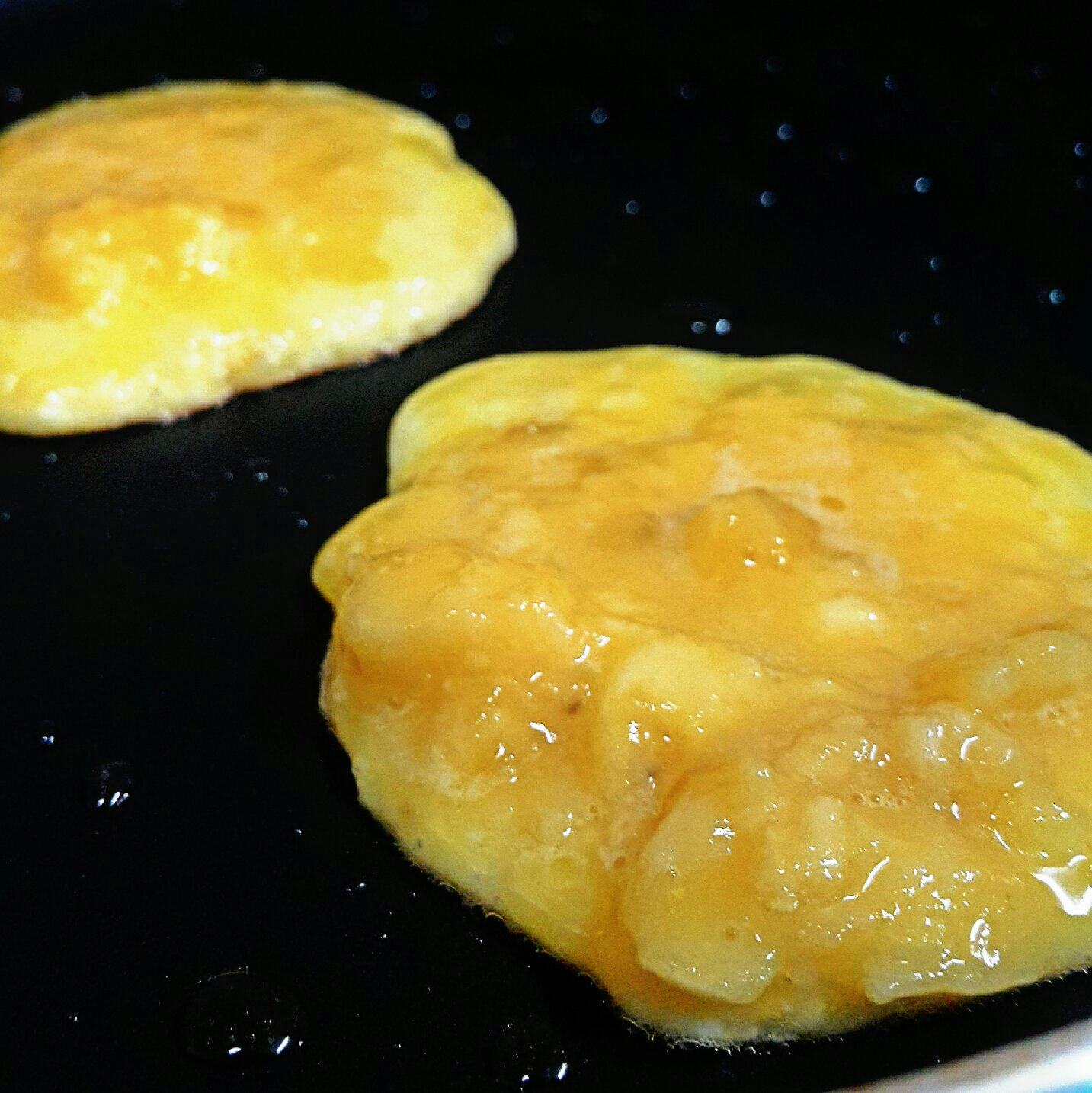 Picture of Pour Batter on a Hot Pan.