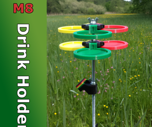 3D Printed M8 Drink Holder With Magnetic Bottle Opener and Tripod