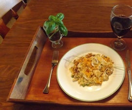 TUNA PASTA CASSEROLE WITH CRUNCHY JALAPENO CHEDDAR TOPPING