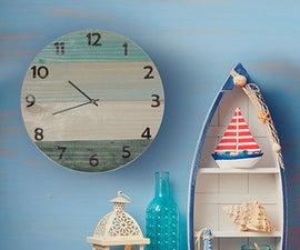 Coastal Style Wall Clock