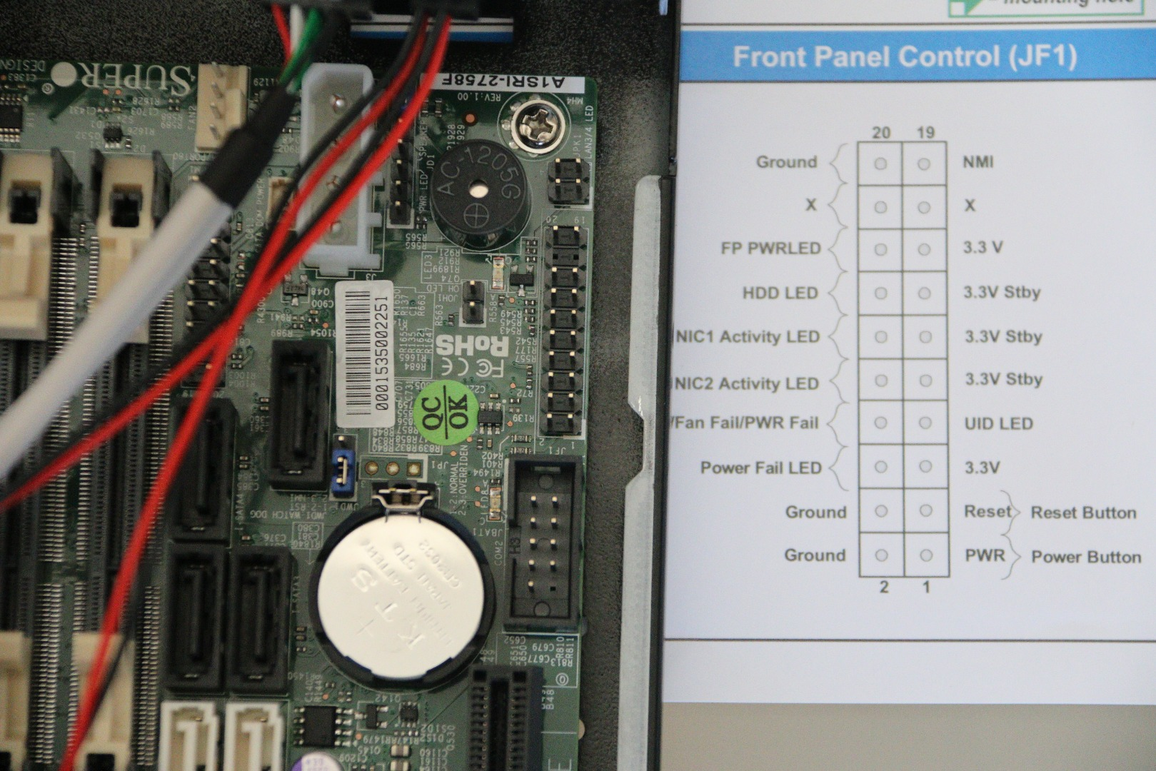 Picture of Connecting the Front Panel