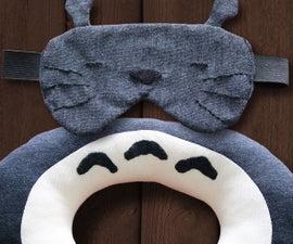 (Totoro) Travel Pillow & Sleeping Mask