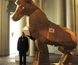 Giant Papercraft Trojan Horse