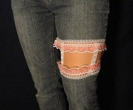 Colorful, cut jeans modification