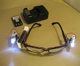 Rechargeable LED Safety Glasses