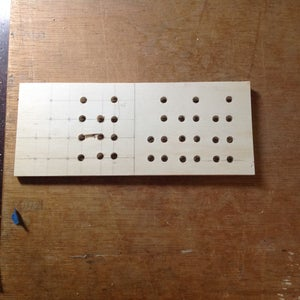 Wood Case: Drilling the Led Holes