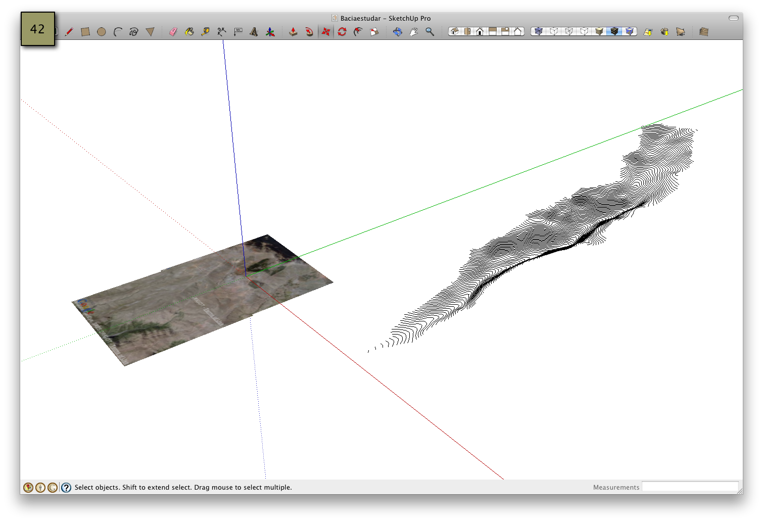 Picture of Geo-Reference the Watershed - SketchUp