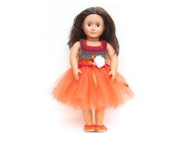 "How to Make a Stylish Crochet Tutu Dress for an 18"" Doll"