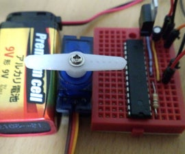 Servo motorを Arduino(ATmega328P-PU) 8MHzで動作させる