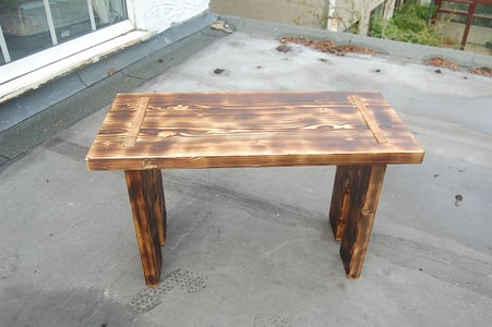 Charred Scaffold Board Table