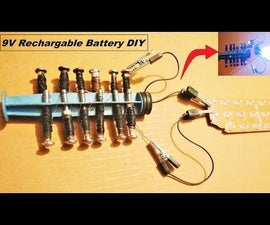 Make a Powerful 9V Rechargable Battery From Nails