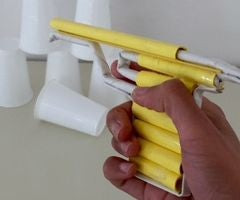 Paper Pistol that shoots bullets(paper)