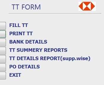 Database Main Window